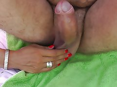 Amateur, Beach, Handjob