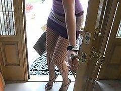 Brunette, Cute, Stockings, Blowjob