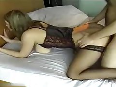 Amateur, Grosse Boobs, Blowjob, Strümpfe