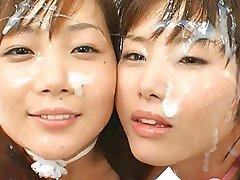 Asian, Bukkake, Facial, Japanese