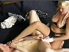 BDSM, Femdom, Fuß Fetisch, Strapon