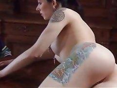Brunette, Hardcore, Piercing, Tattoo
