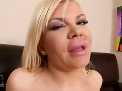 Babe, Big Tits, Stockings, Masturbation