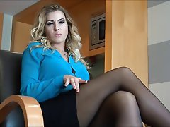 Blonde, Foot Fetish, MILF, Pantyhose