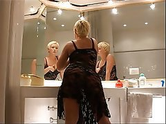 Blondine, Angespritzt, Blowjob