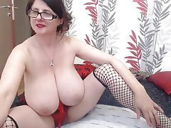 On mature webcam breasts