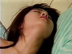 Asian, Brunette, Hairy, Handjob