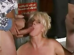 Amateur, Blowjob, Facial, Granny