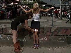 Blonde, Public, Submissive, Teen