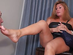 mom foot porn Gorgeous Mom  and nice feet · Fetish  Pale blonde with small breast and foot fetish stripping on t .