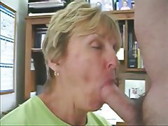 Amateur, Blonde, Blowjob, Granny