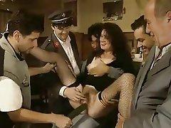 Skupinový sex, Chlupaté, Zralé ženy, Vintage