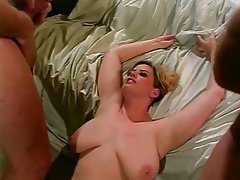 German blonde suck fucked in public bathroom