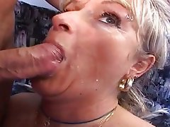 Anal Sex With Mature - Aged German woman in anal sex video