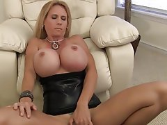 Big Boobs, Blonde, Blowjob, Mature