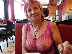 Oma, MILF, Reifen, Grosse Boobs