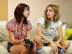 Lesbičky, Blondýna, Černovlásky, Sezení na obličeji