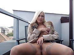 Babe, Blonde, Outdoor, Masturbation