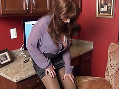 Amateur, Big Boobs, MILF, Pantyhose