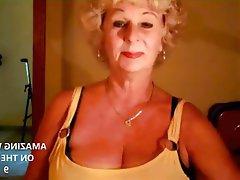 Granny, Mature, Big Boobs, Webcam