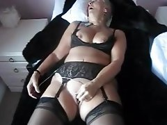 Masturbation, Stockings, Orgasm, Mature