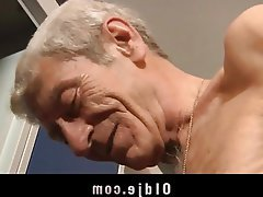 Blowjob, Brunette, Facial, Old and Young